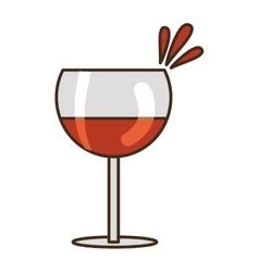 Delicious wine cup vector