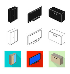 Design of bedroom and room sign collection vector