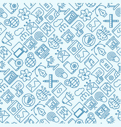 Digital marketing seamless pattern vector