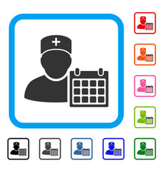 Doctor appointment framed icon vector