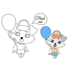 dog delicate gray shades with hanging ears in a vector image