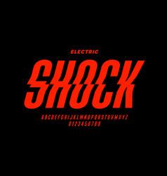 eclectric shock style font design alphabet vector image