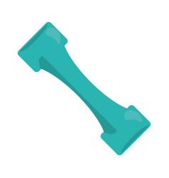 Fitness dumbell equipment vector