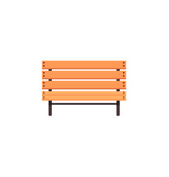 flat cartoon wooden bench isolated vector image