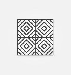 floor tile thin line concept icon vector image