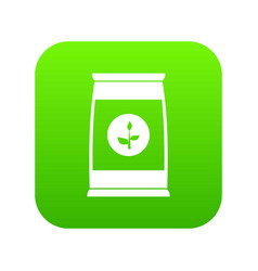 flower seeds in package icon digital green vector image