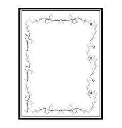 Frame twig card vector