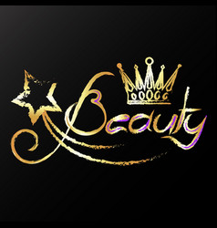 golden crown beauty vector image