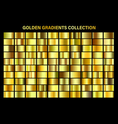 golden yellow glossy gradient gold metal foil vector image