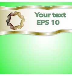 graphic green background for text and message vector image