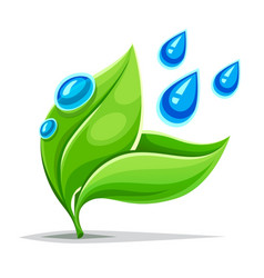 green leaves plant growing vector image