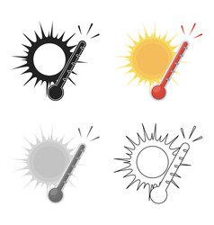 Heat icon in cartoon style isolated on white vector