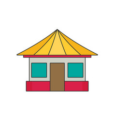home flat vector image