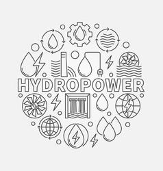 Hydropower round vector