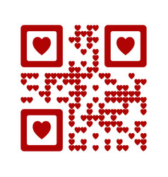 i love you words qr code vector image