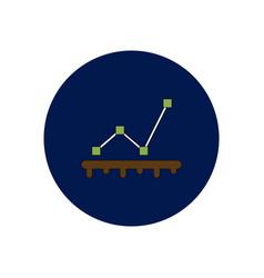 In flat design of progress vector