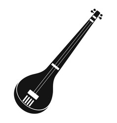 indian guitar icon simple style vector image