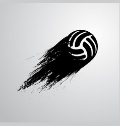 Ink blots volleyball ball vector