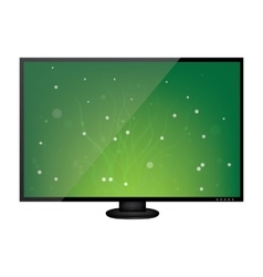 LCD monitor isolated on white background vector