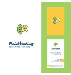 leaf creative logo and business card vertical vector image
