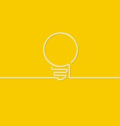 light bulb sign vector image