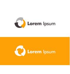 logo design template technology icon design vector image