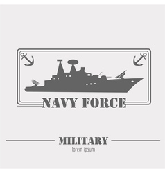 Military logo navy force graphic template vector