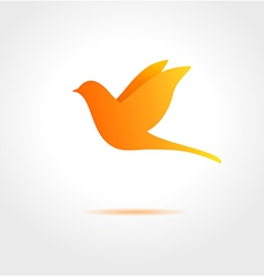 Orange bird on gray background vector