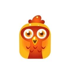 Orange Chicken Chick Square Icon vector