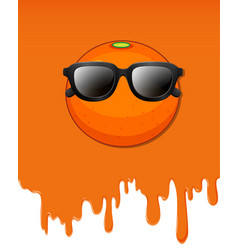orange with water dripping background vector image
