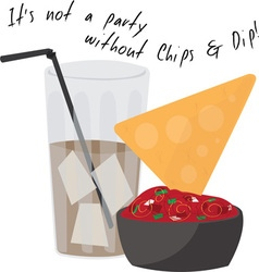 Party Chips vector