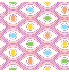 pattern with open eyes vector image
