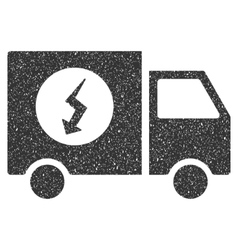Power Supply Van Icon Rubber Stamp vector image