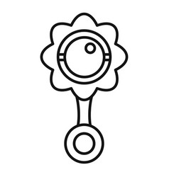 Rattle toy icon outline style vector
