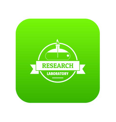 research laboratory icon green vector image