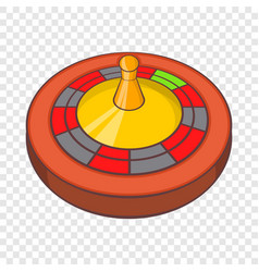 Roulette in casino icon cartoon style vector