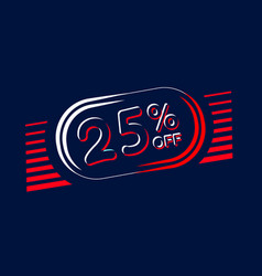 Sale of labels 25 off vector