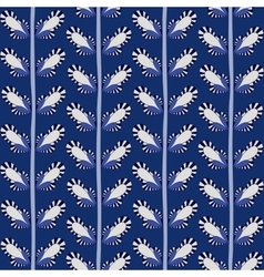 Seamless doodle leaves pattern handmade vector