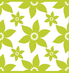 Seamless floral pattern repeated flowers vector