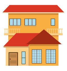 single house with red roof vector image