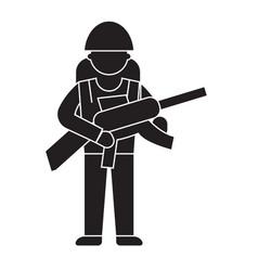 soldier gear black concept icon soldier vector image