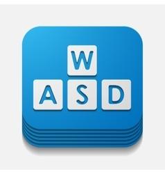 Square button keypad vector