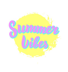 summer vibes sunny poster beach party summer vector image