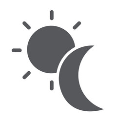 Sun and moon glyph icon weather and nature day vector
