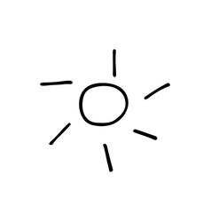 Sun icon in style doodle vector