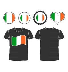 t-shirt with the flag of Ireland vector image