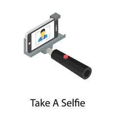 Take a selfie vector