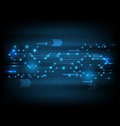Technology blue futuristic circuit board data vector