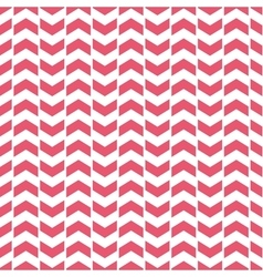 Tile pattern with pink arrows on white background vector