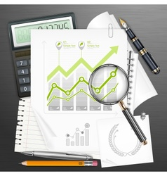Tools for business and infographic elements vector image